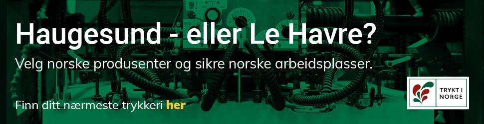 Banner fra lansering av Trykt i Norge II